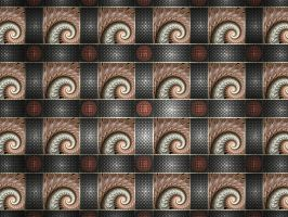Tiled Spirals by Platinus