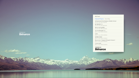 behance RSS feeds Reader by guerrilive
