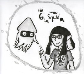 TonicTober Day 06 - Squid by Faulken