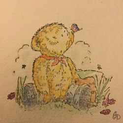 Bear stamp watercolour  by shookarmy