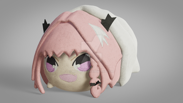 Haunted Astolfo Bean Plushie by Mistberg
