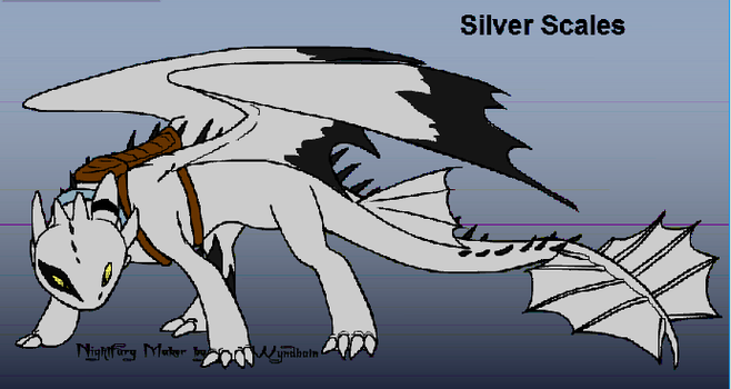 Silver Nightfury by Vahzah-Dovahkiin