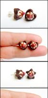 Heart and Star Brownie Post Earrings by Bon-AppetEats