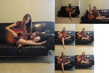 Guitar Girl Stock Pack by Allendra3