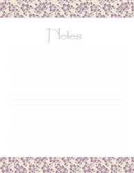 Notes - Lilac Flowers by Defreve