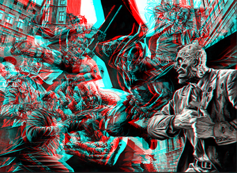 Batman by Lee Bermejo in 3D anaglyph by xmancyclops