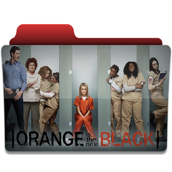 Orange is the new black folder icon by PanosEnglish