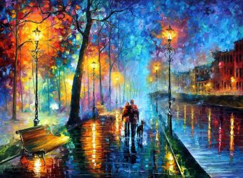MELODY OF THE NIGHT by Leonid Afremov by Leonidafremov