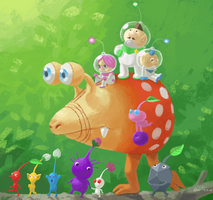 Fan Art - Pikmin Parade by kittyninjafish