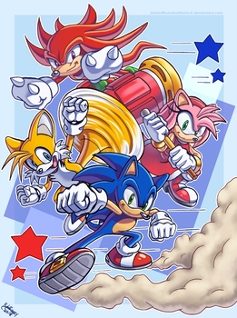 The Original Gang by SailorMoonAndSonicX