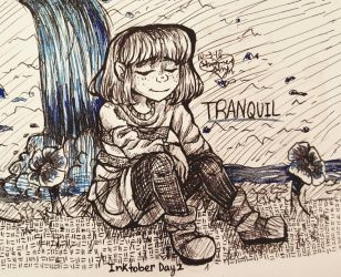Tranquil [Inktober Day 2] by Shimmer-Shy