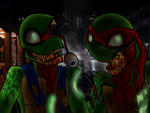 Zombie Raph And Leo by Atomic52