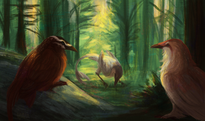 We all love some corvids in a forest by Aymea