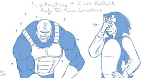 Armstrong and Redfield by X-Cross