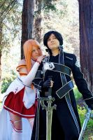 SAO- Asuna and Kirito by TarynnNikki