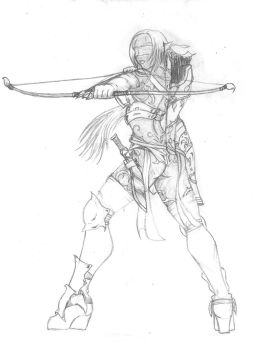 Xammar'a, the blind huntress by griffin13