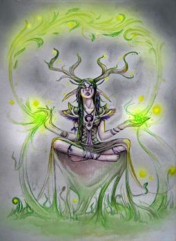 The druid by NightFlame666