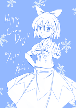 Cirno for Cirno Day! by XanaduAvici