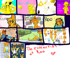 the evolution of Roo by KangarooDragon