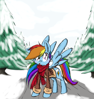 winter rainbow dash by dashiepie