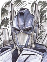 Optimus Prime Marker head sketch by JoeyVazquez