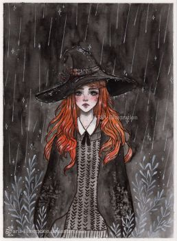 Day5 Inktober- Ginger Witch by ARiA-Illustration