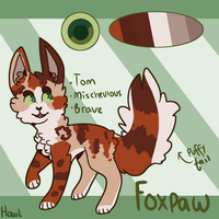 Foxpaw Reference - 2017 :WIP: by Parayeet