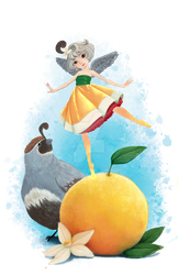Itty Bitty Grapefruit Fairy by Mamsell-Seamonster