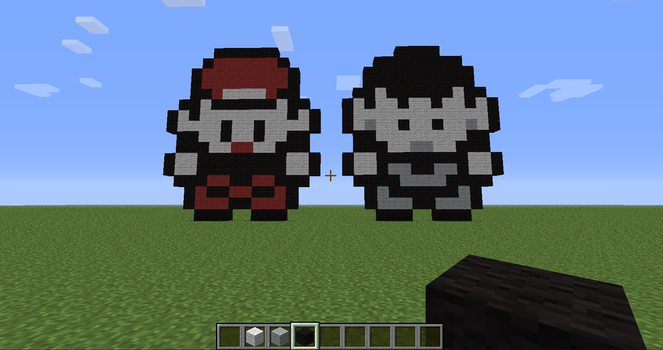 Red and Brock Sprites (Minecraft) by mjjfan10