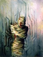 Abstracted Mummy by Violet-Tied