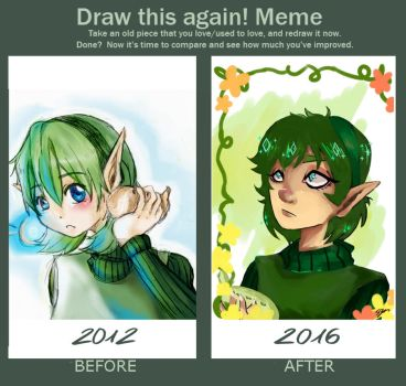 [Draw this again!] Saria the forest Sage by TechDissidence