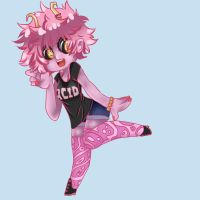 Mina Ashido by Pandamonicrabbit