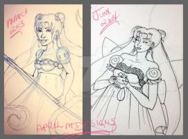 Before and After Princess Serenity by aprilmdesigns