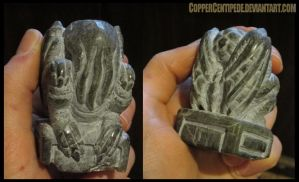 newest carved stone Cthulhu idol - WIP by CopperCentipede