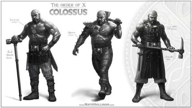 The Order of X - Colossus by NateHallinanArt