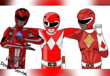 Red Rangers Assemble by PowerSentai2016