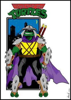 Turtle Shredder (Inked and Colored) by NathanKroll