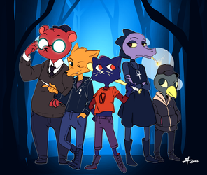 Night in the Woods by Mugges