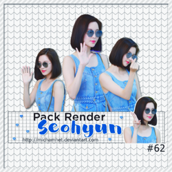 [PACK RENDER #62] SEOHYUN [170908] by michamhet