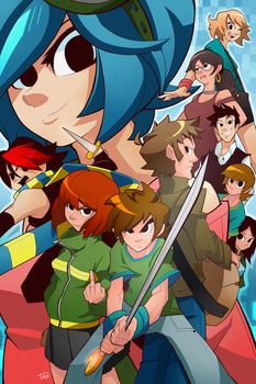 Scott Pilgrim And His Silly Little Friends by Tale-Dude