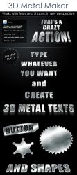 Free 3D Metal text action by Giallo86