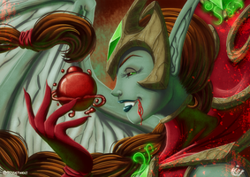 Fanart - Blood-Queen Lana'thel by LadyRosse