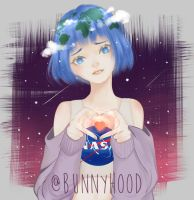 Earth-chan by ArtofBunnyhood
