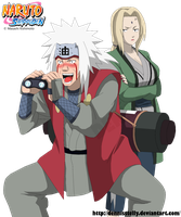 Jiraiya and Tsunade Funny - Lineart colored by DennisStelly