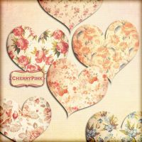 FLOWER HEART Clipart, flower png files by miabumbag