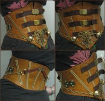 steampunk waist cincher by FiddlerofDooney