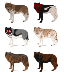 Wolf Adoptables 2 OPEN by galianogangster