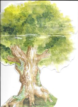 Watercolor doodle tree by TheArtisticLady
