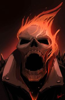 Ghost Rider Stepped on Lego by AlexanderLevett