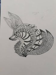 Doodles  Zentangles: Fox-tangle by AdamFegarido